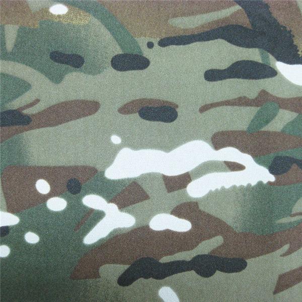 Teflon 100% Polyester gewebte wasserdichte Militär Tarnung Regenjacke im Freiengewebe