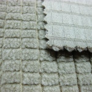 Polyester-Fleece-Material / strapazierfähiges atmungsaktives Material aus super Poly-Twill für Trainingsanzüge