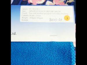 China Fabrik 100% Polyester Fleece antistatische Winterjacke Stoff